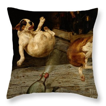 A Surprising Result Throw Pillow by William Henry Hamilton Trood