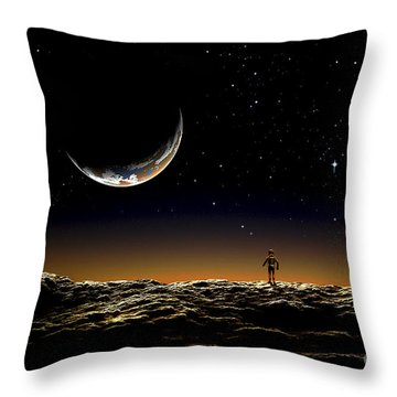 A Thin Veil Of Gaseous Material Throw Pillow by Frank Hettick