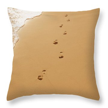 A Walk On The Beach Throw Pillow by Don Hammond
