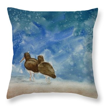 A Walk On The Beach Throw Pillow by Estephy Sabin Figueroa