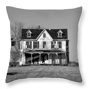 Abandoned IIi Throw Pillow by Richard Ortolano