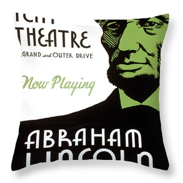 Abe Lincoln Wpa Poster Throw Pillow by Paul Van Scott