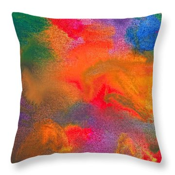 Abstract - Crayon - Melody Throw Pillow by Mike Savad