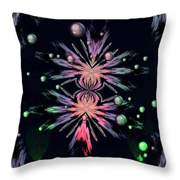 Abstract 014 Throw Pillow by Maria Urso