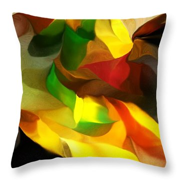 Abstract 080512 Throw Pillow by David Lane