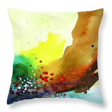 Abstract 5 Throw Pillow by Anil Nene