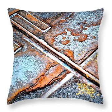 Abstract Among Us Throw Pillow by Gwyn Newcombe