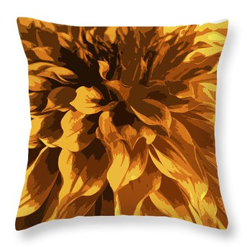 Abstract Flowers 14 Throw Pillow by Sumit Mehndiratta