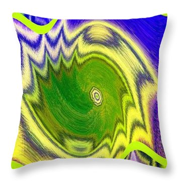 Abstract Fusion 157 Throw Pillow by Will Borden