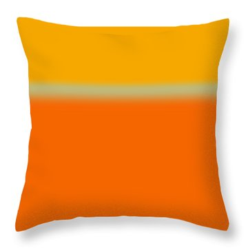 Abstract Orange And Yellow Throw Pillow by Naxart Studio