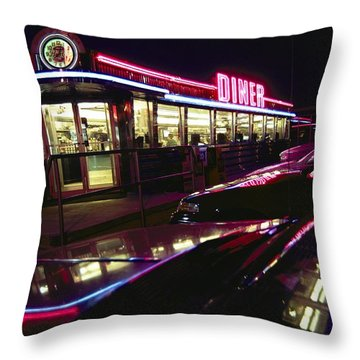 Abstract Reflections In Cars Throw Pillow by Stephen St. John