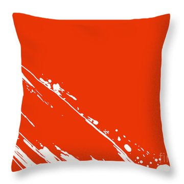 Abstract Swipe Throw Pillow by Pixel Chimp
