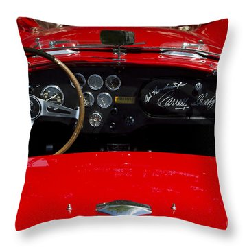 Ac Cobra Throw Pillow by Dennis Hedberg