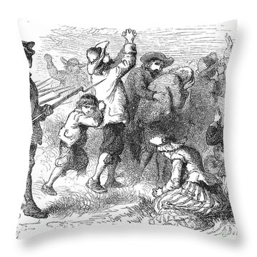 Acadian Expulsion, 1775 Throw Pillow by Granger