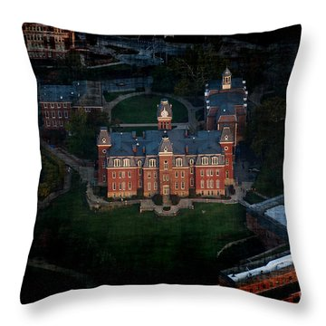 Aerial Woodburn Hall In Evening Throw Pillow by Dan Friend