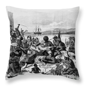 Africa: Slave Trade, C1840 Throw Pillow by Granger