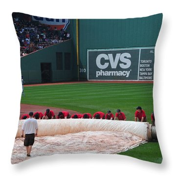 After The Rain Delay Throw Pillow by Mike Martin