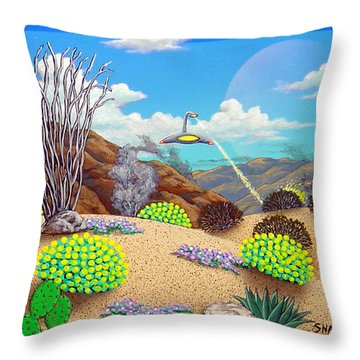 Afternoon Attack Throw Pillow by Snake Jagger