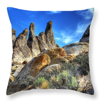 Alabama Hills Granite Fingers Throw Pillow by Bob Christopher