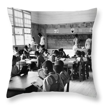 Alabama: Schoolhouse, 1939 Throw Pillow by Granger