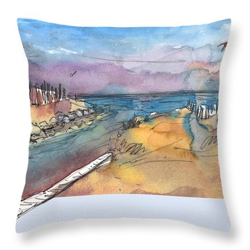 Albufera De Valencia 15 Throw Pillow by Miki De Goodaboom