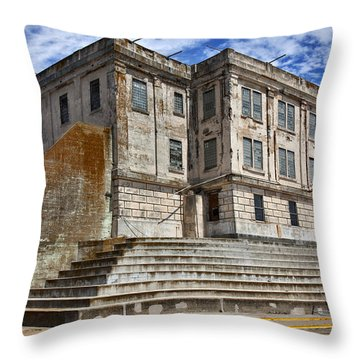 Alcatraz Cellhouse  Throw Pillow by Garry Gay