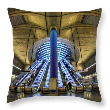 Alien Landing Throw Pillow by Evelina Kremsdorf