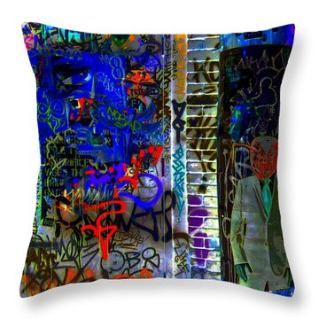 Alien Suit 3 Throw Pillow by Randall Weidner