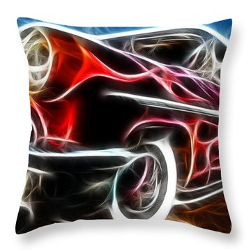 All American Hot Rod Throw Pillow by Paul Ward