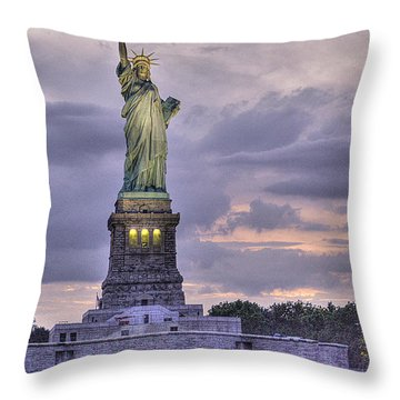Allegory Of Liberty Throw Pillow by William Fields