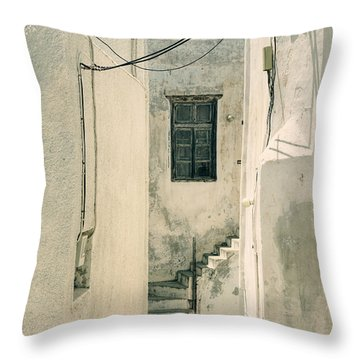 alley in Greece Throw Pillow by Joana Kruse
