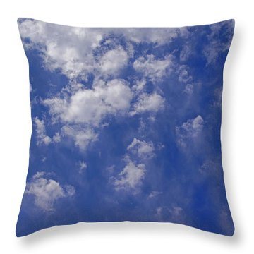 Alto Cumulus With Ice Throw Pillow by Mick Anderson