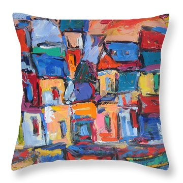 Amalfi 06 Throw Pillow by Len Yurovsky