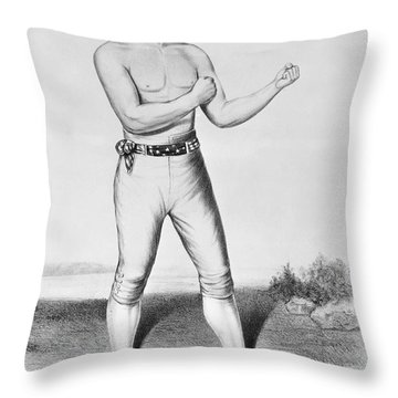 American Boxer, 1860 Throw Pillow by Granger