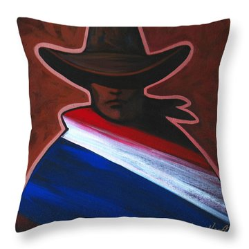 American Rider Throw Pillow by Lance Headlee