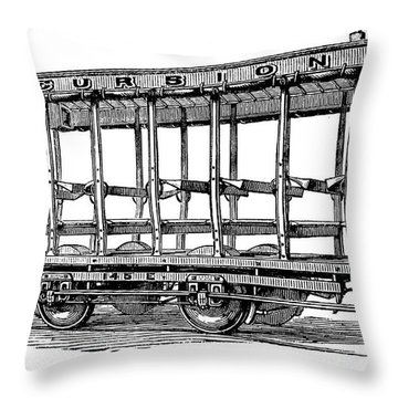 American: Streetcar, 1880s Throw Pillow by Granger
