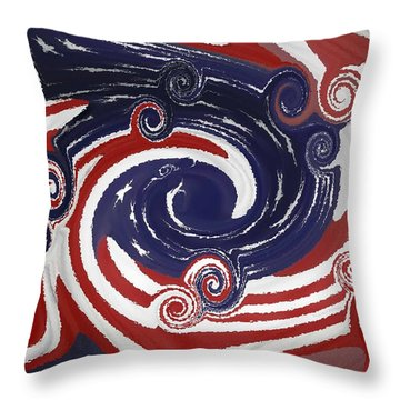 Americas Palette Throw Pillow by DigiArt Diaries by Vicky B Fuller
