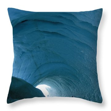 An Enormous Icy Tunnel That Looks Like Throw Pillow by Maria Stenzel