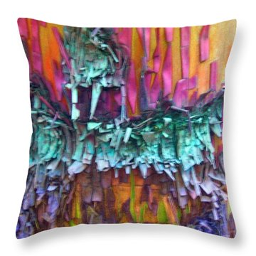 Throw Pillow featuring the digital art Ancient Footsteps by Richard Laeton