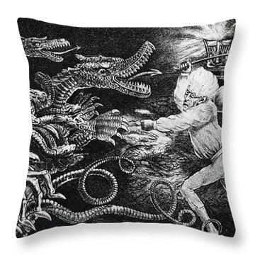 Andrew Jackson Cartoon Throw Pillow by Granger