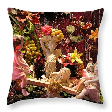 Angel Love Throw Pillow by Anthony Wilkening