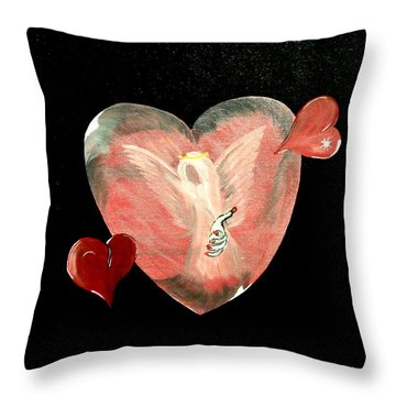 Angel Of Death Throw Pillow by Mark Moore