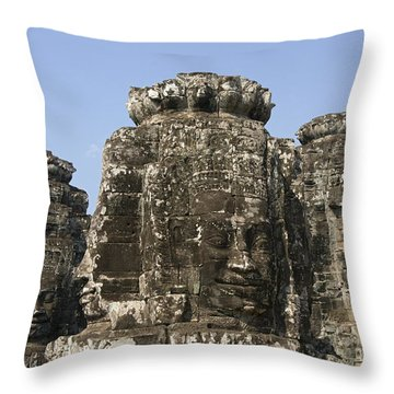 Angkor Thom IIi Throw Pillow by Gloria & Richard Maschmeyer