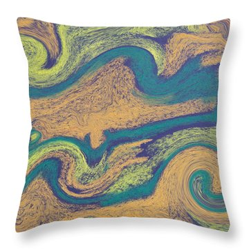 Angry Seas Throw Pillow by Tom Nettles