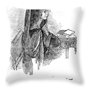 Anne BrontË (1820-1849) Throw Pillow by Granger