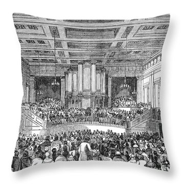 Anti-slavery Meeting, 1842 Throw Pillow by Granger