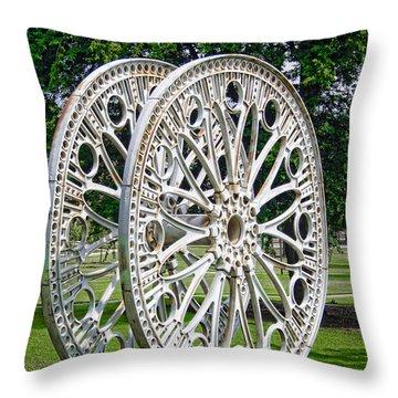 Antique Paddle Wheel University Of Alabama Birmingham Throw Pillow by Kathy Clark