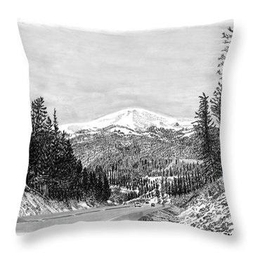 Apache Summit Siera Blanco Throw Pillow by Jack Pumphrey