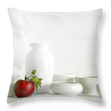 Apple Throw Pillow by Matild Balogh