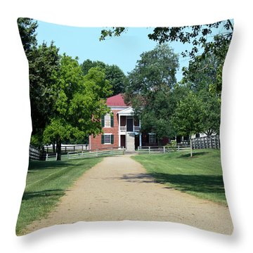 Appomattox County Court House 2 Throw Pillow by Teresa Mucha